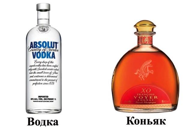 Чем отличается водка от коньяка и как их отличить