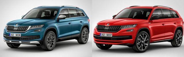 skoda kodiaq или volkswagen tiguan: сравнение автомобилей и что лучше
