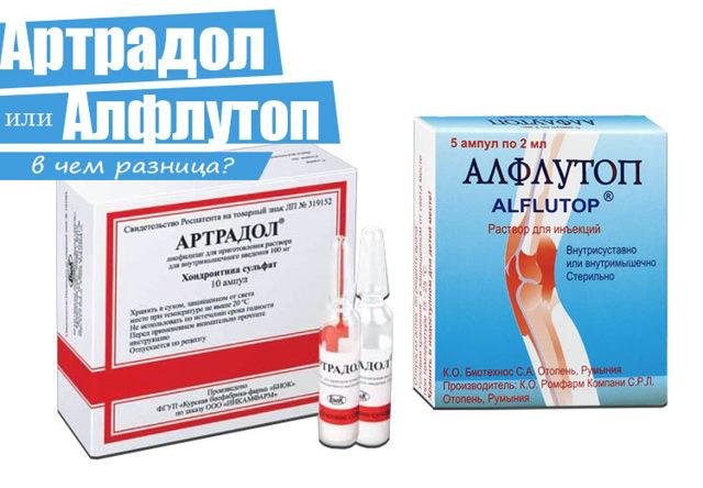 Как медикамент лучше и эффективнее Артрадол или Алфлутоп