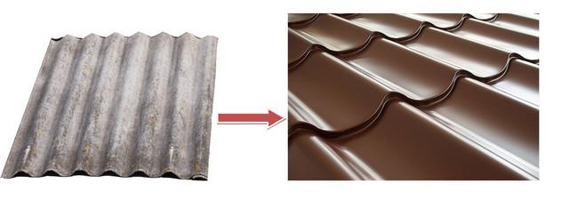 Какое покрытие лучше шифер или металлочерепица?