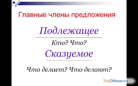 Сказуемое и глагол — в чем разница?
