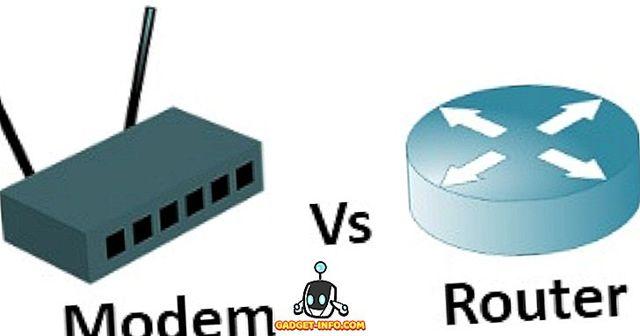 Основная разница между модемом и роутером
