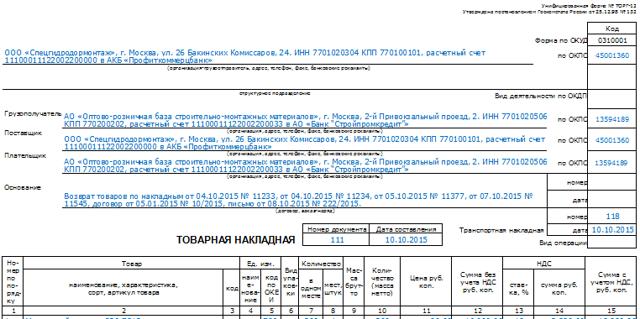 В чем разница между ТТН и ТОРГ-12?